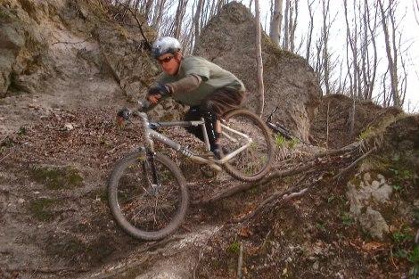 Bicycling down hill